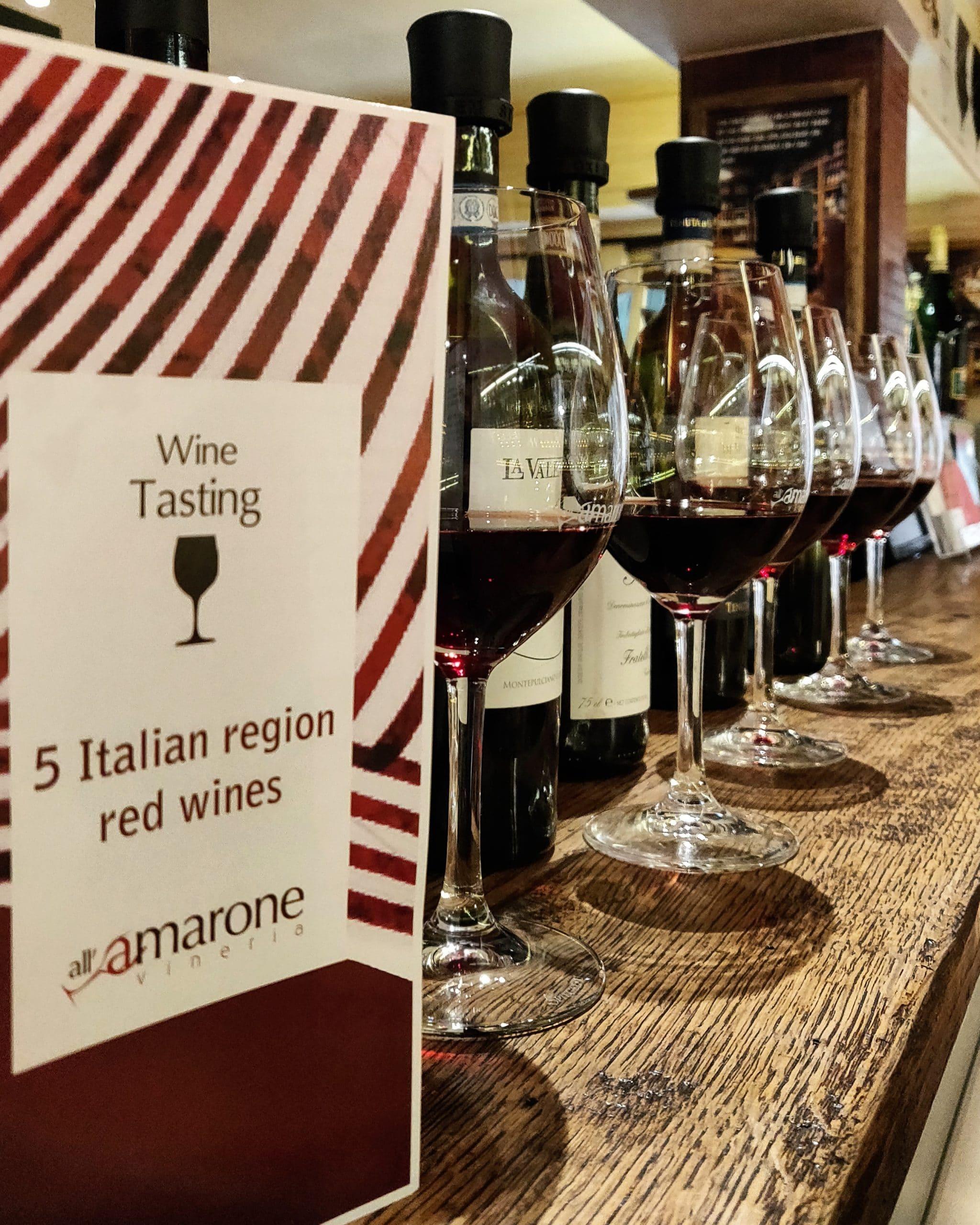 Italian Wine Tasting in Venice