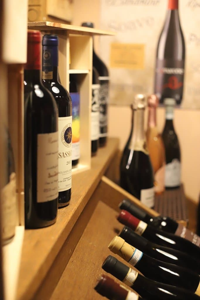 Wine Bottles in the Wine Shop
