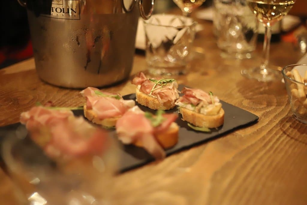 Cicchetti During a Sommelier Class