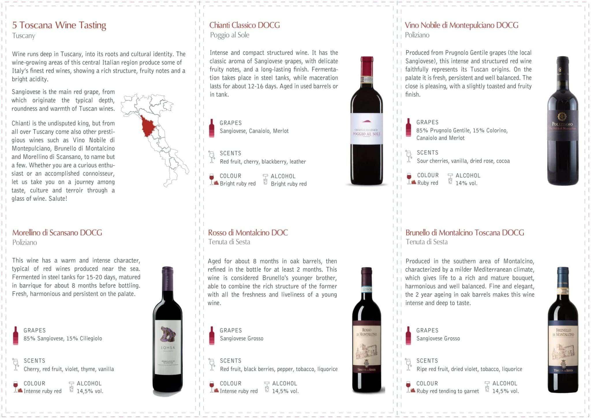 Toscana Wine Flight at Vineria all'Amarone