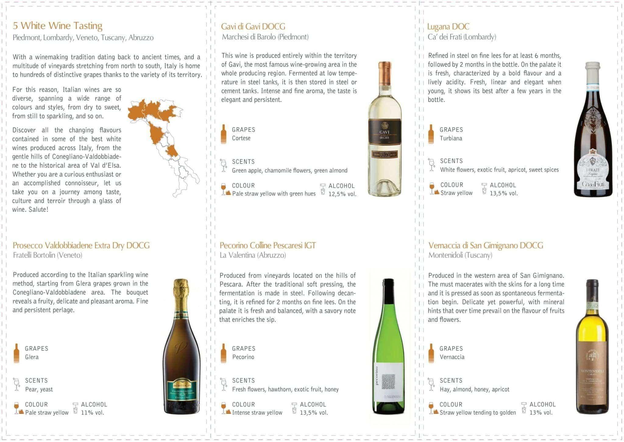 White Wine Tasting at Vineria all'Amarone