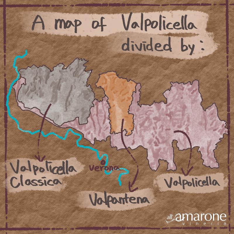 Map of the Valpolicella