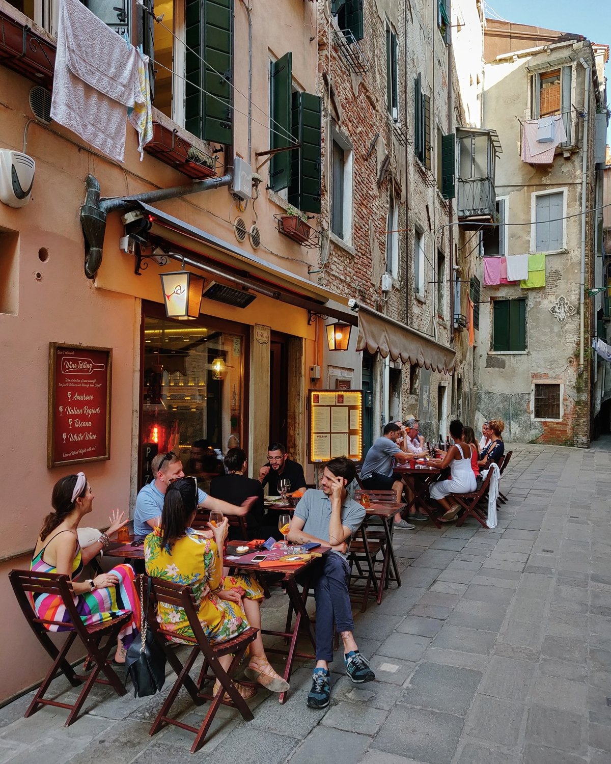 Seating Outside Venice Italy